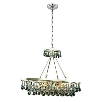 Verlie 4-Light Kitchen Island Pendant Finish: Polished Nickel