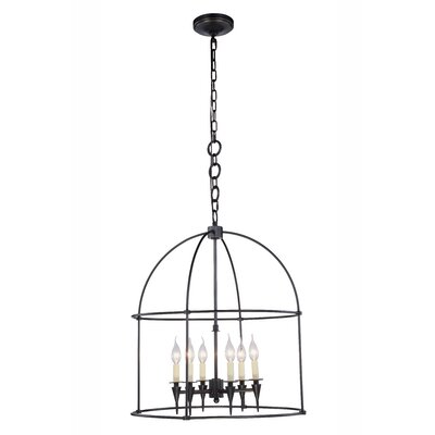 Paul 6-Light Foyer Pendant Finish: Bronze