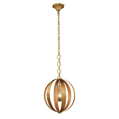 Serenity 1-Light Globe Pendant Finish: Vintage Silver Leaf