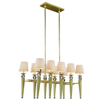 Olympia 10-Light Kitchen Island Pendant Finish: Burnished Brass