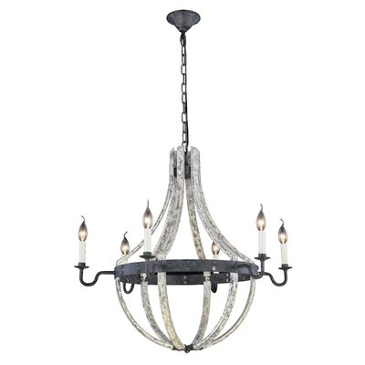 Karteek 6-Light Candle-Style Chandelier