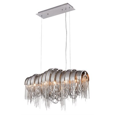 Veta Contemporary 5-Light Waterfall Chandelier