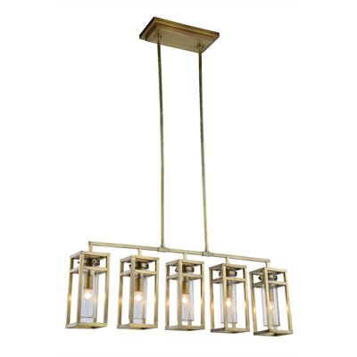 Simms 5-Light Kitchen Island Pendant Finish: Vintage Nickel