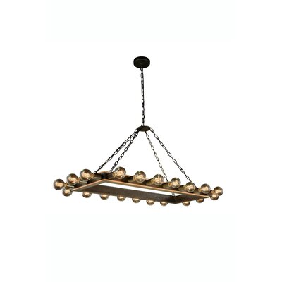 Fanetta 20-Light Kitchen Island Pendant Finish: Golden Iron/Vintage Bronze