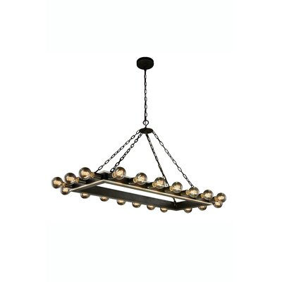 Fanetta 20-Light Kitchen Island Pendant Finish: Silver Leaf/Vintage Bronze