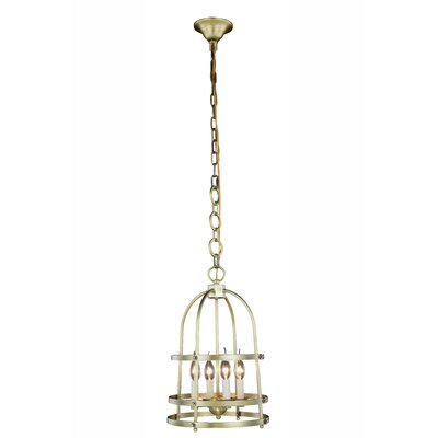 Vinita 4-Light Foyer Pendant Finish: Burnished Brass