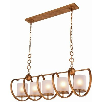 Europa 5-Light Pendant Finish: Vintage Bronze