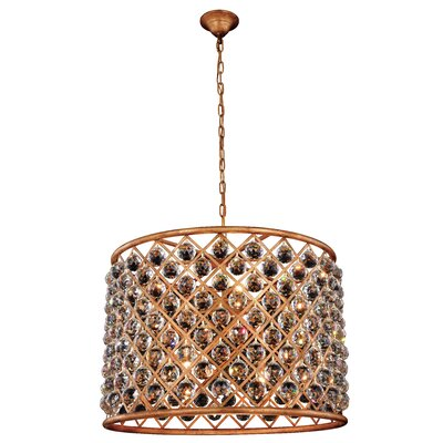 Morion 8-Light Iron Drum Pendant