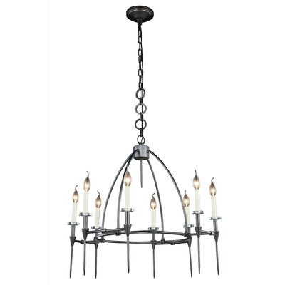 Verasha 8-Light Candle-Style Chandelier Finish: Polished Nickel