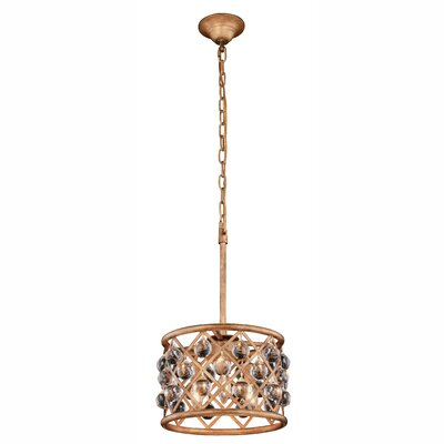 Morion 3-Light Iron Drum Pendant