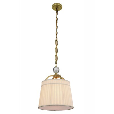 Sharonda Transitional 1-Light Mini Pendant Finish: Burnished Brass