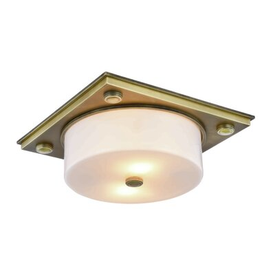Travis 2-Light Flush Mount Finish: Burnished Brass