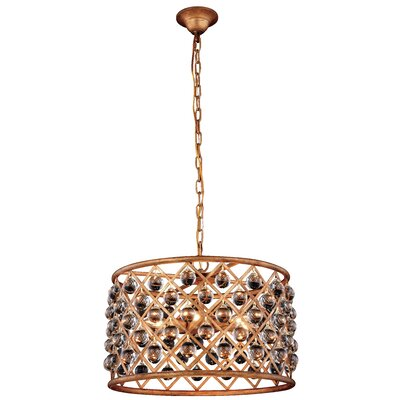 Morion 6-Light Iron Drum Pendant