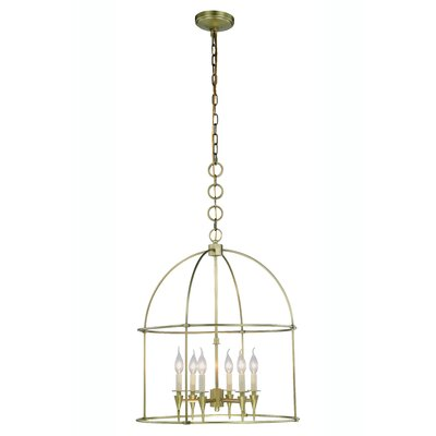 Paul 6-Light Foyer Pendant Finish: Burnished Brass