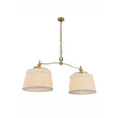 Sharonda 2-Light Kitchen Island Pendant Finish: Vintage Nickel