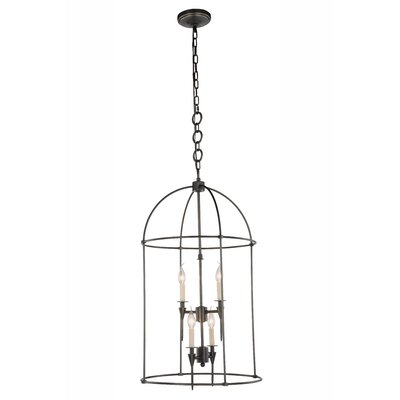 Paul 4-Light Foyer Pendant Finish: Bronze