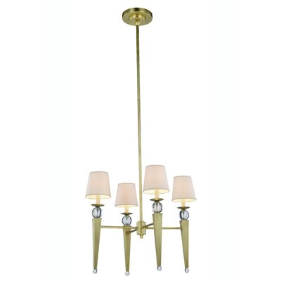 Bucholz Traditional 4-Light Shaded Chandelier Finish: Burnished Brass