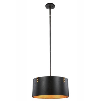 Stansel 3-Light Drum Pendant