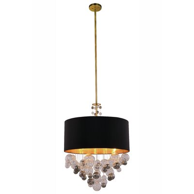 Castor 4-Light Drum Pendant Finish: Vintage Nickel