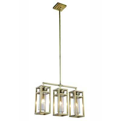 Simms 3-Light Kitchen Island Pendant Finish: Vintage Nickel