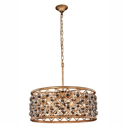 Morion Transitional 6-Light Drum Pendant