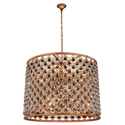 Morion Transitional 12-Light Drum Pendant