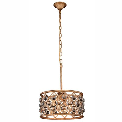 Morion Transitional 4-Light Drum Pendant