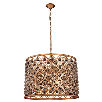 Morion Transitional 8-Light Drum Pendant