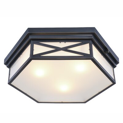 Absecon 3-Light Flush Mount Finish: Golden Iron
