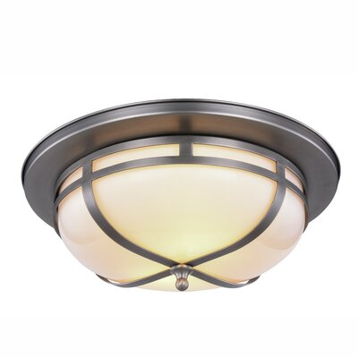 Broussard 2-Light Flush Mount Finish: Vintage Nickel