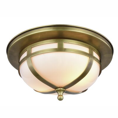 Broussard 2-Light Transitional Flush Mount Finish: Bronze