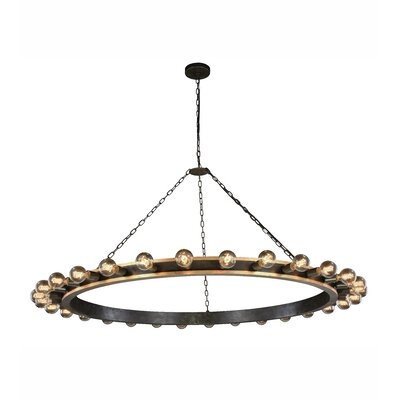 Fanetta 30-Light Kitchen Island Pendant Finish: Silver Leaf/Vintage Bronze