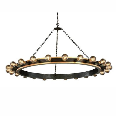 Fanetta 24-Light Sputnik Chandelier Finish: Silver Leaf/Vintage Bronze