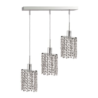 Kruse Modern 3-Light Pendant Crystal Color / Crystal Trim: Crystal (Clear) / Royal Cut