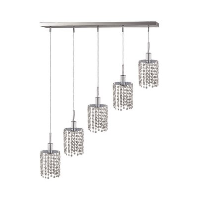 Alexandrea 5-Light Pendant Crystal Color / Crystal Trim: Crystal (Clear) / Elegant Cut