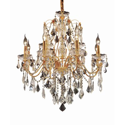 Thao 12-Light Chain Crystal Chandelier Finish: Chrome, Crystal Trim: Strass Swarovski