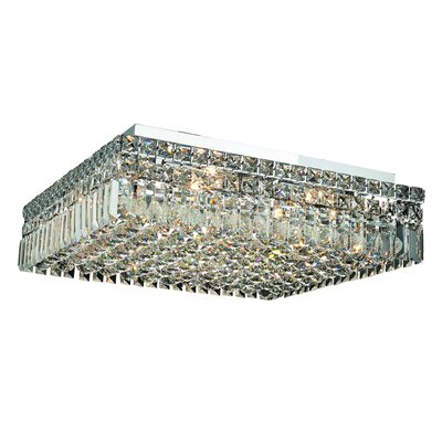 Maxim 12-Light 20 Flush Mount Crystal Grade: Strass Swarovski