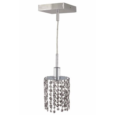 Kruse 1-Light Pendant Crystal Color / Crystal Trim: Crystal (Clear) / Elegant Cut