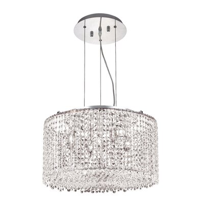Troas 5-Light Drum Pendant Crystal Color / Crystal Trim: Crystal (Clear) / Elegant Cut