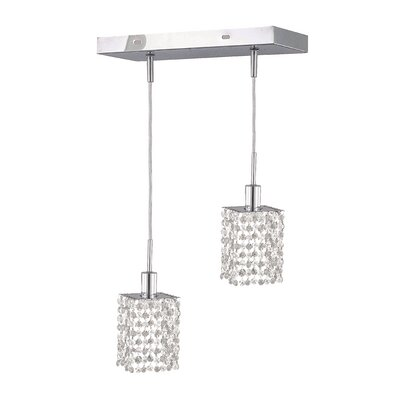 Kruse Contemporary 36 2-Light Pendant Crystal Color / Crystal Trim: Crystal (Clear) / Royal Cut