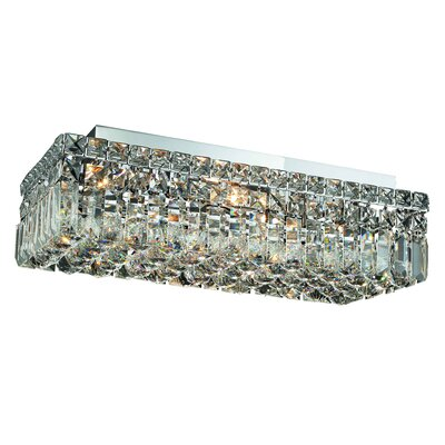 Bratton 4-Light Flush Mount Size / Crystal Grade: 16 / Elegant Cut