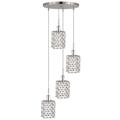 Mini 4-Light Pendant Crystal Color / Crystal Trim: Crystal (Clear) / Elegant Cut