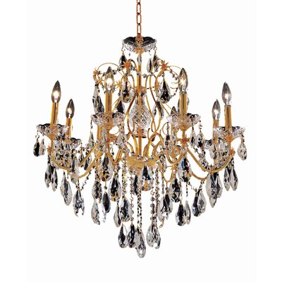 Thao 8-Light Crystal Chandelier Finish: Gold, Crystal Trim: Elegant Cut