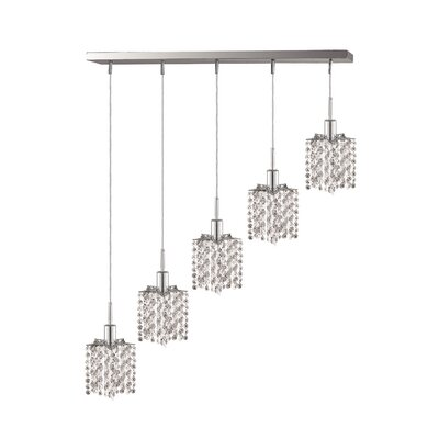 Alexandra 5-Light Pendant Crystal Color / Crystal Trim: Crystal (Clear) / Elegant Cut
