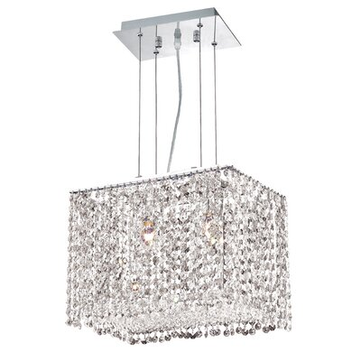 Troas 2-Light Crystal Pendant Crystal Color / Crystal Trim: Crystal (Clear) / Elegant Cut