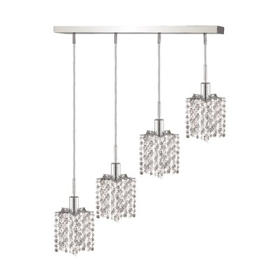 Mini 4-Light Pendant Crystal Color / Crystal Trim: Crystal (Clear) / Royal Cut