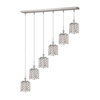 Kruse Contemporary 6-Light Pendant Crystal Color / Crystal Trim: Crystal (Clear) / Royal Cut