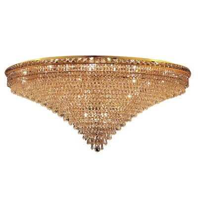 Fulham 33-Light Semi Flush Mount Finish: Gold, Crystal Grade: Chrome / Spectra Swarovski