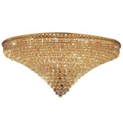 Fulham 33-Light 21 Semi Flush Mount Finish: Gold, Crystal Grade: Chrome / Spectra Swarovski