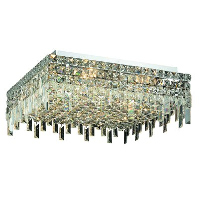 Maxim 12-Light Semi Flush Mount Crystal Grade: Royal Cut